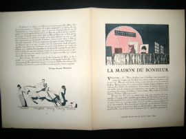 Gazette du Bon Ton 1921 Art Deco Print. Cinema Advert - Charlie Chaplin etc